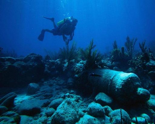 пушка под водой черное море